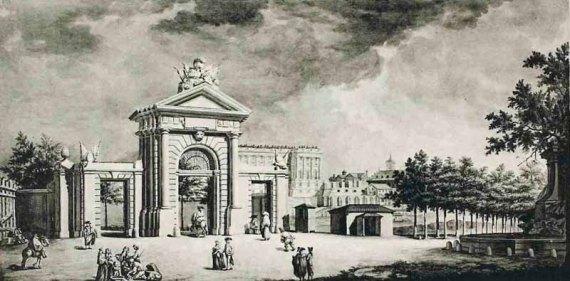 Vista exterior de la Puerta de San Vicente - libro ayto madrid antiguo 1926