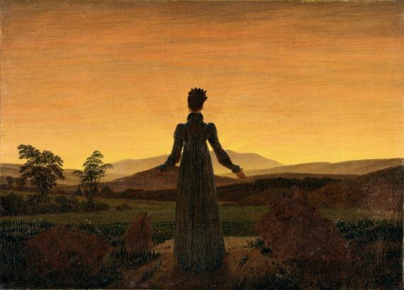 """""""Señora mirando lo Sublime y viendo que le queda un poco lejos"""" de Caspar David Friedrich."""